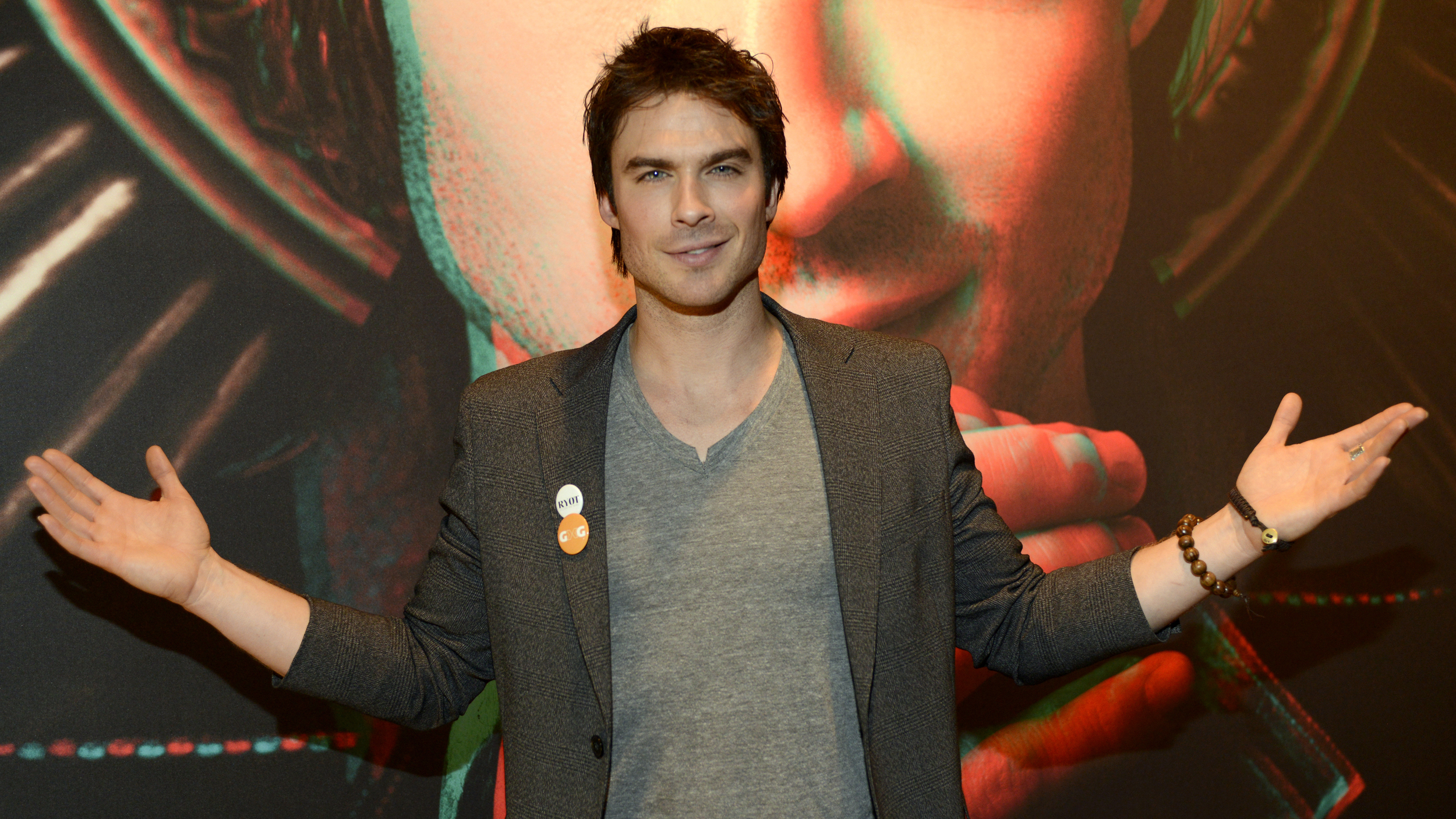 Ian somerhalder strikes a pose at the warner brothers tv party during 2013 south by southwest