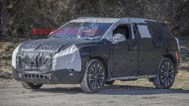 spy photos of new chevy midsize suv, possibly called