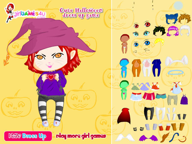 free halloween games six spooky dress up games - Free Halloween Dress Up Games