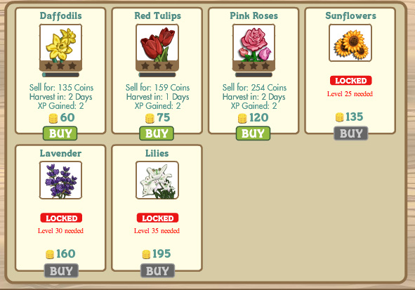 farmville flowers are cash crops!