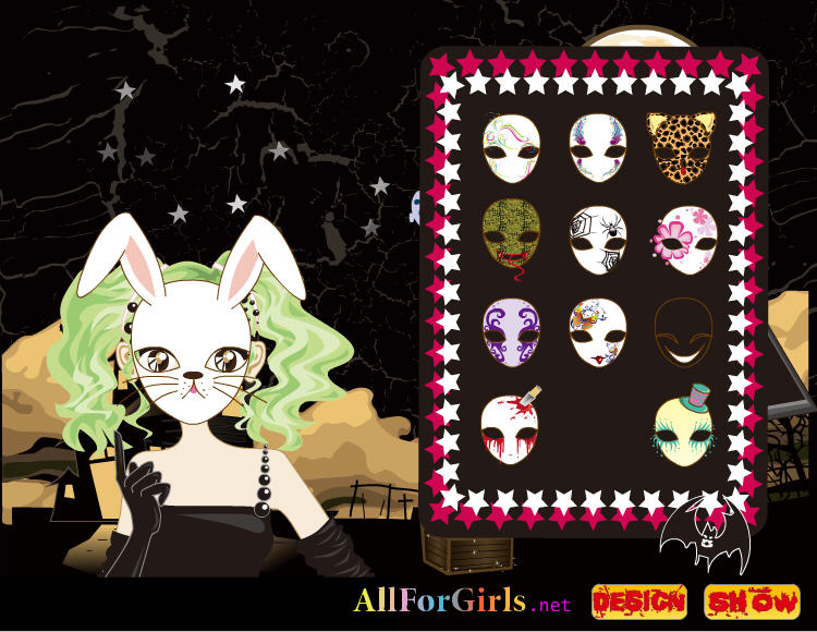 click to see all six halloween dress up games - Free Halloween Dress Up Games