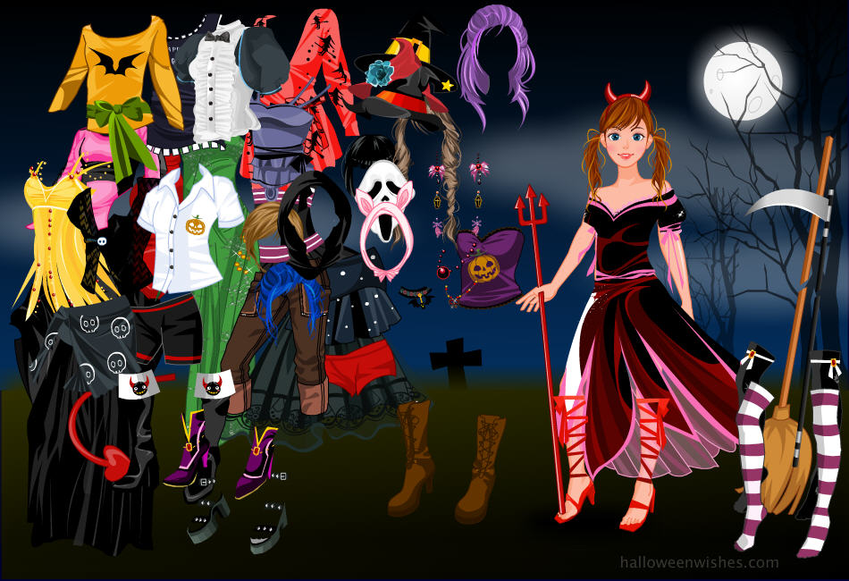 Halloween fashion dress up games