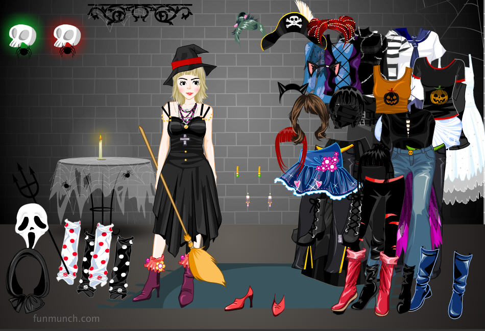 free halloween games six spooky dress up games - Dress Up Games For Halloween
