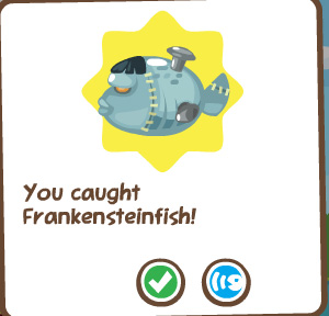 Pet Society halloween frankenfish