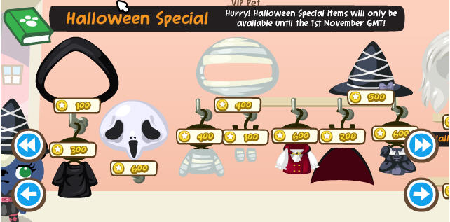 Pet Society Halloween Special - Costumes