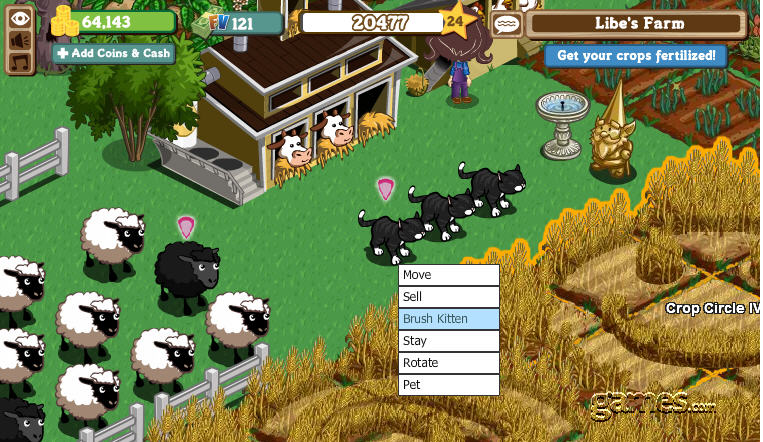 farmville black cat brush kitten