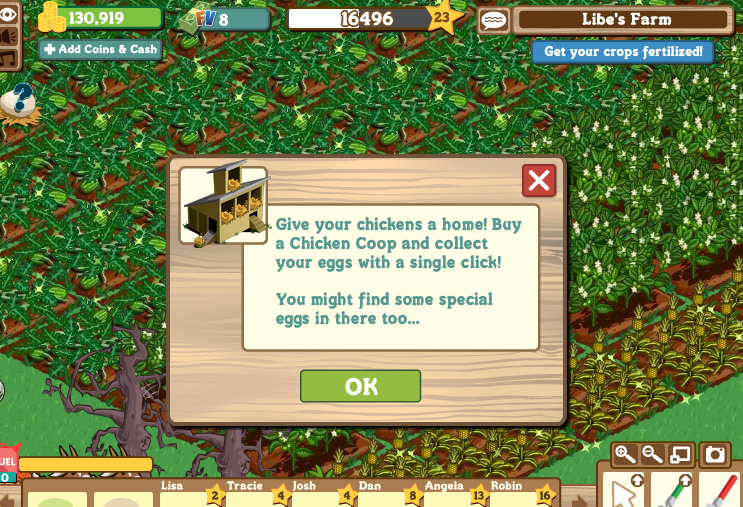 farmville chicken coops let you harvest 20 chickens at once