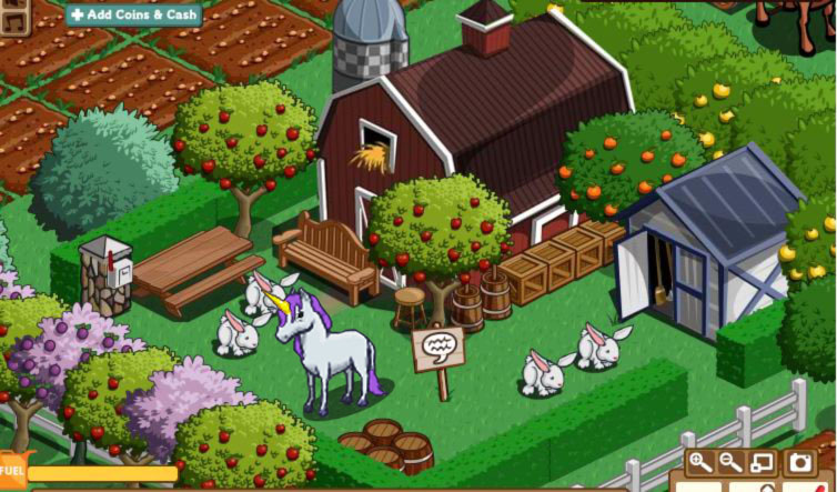 farmville u nicorn and dinosaurs