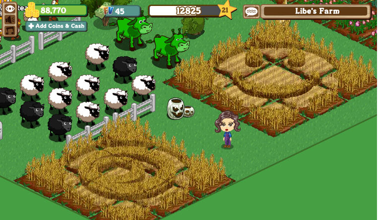 farmville crop circles and alien cows come to roost