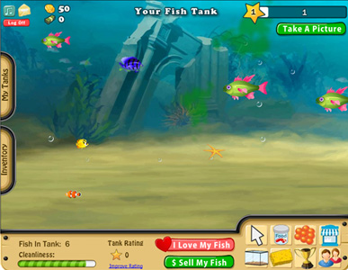 Aquarium games the next wave of farming aol news for Fish tank game