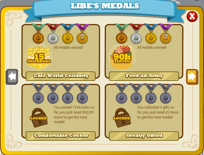 cafe world medals keep virtual cooks in the kitchen