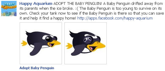 Happy Aquarium - Adopt The Baby Penguin