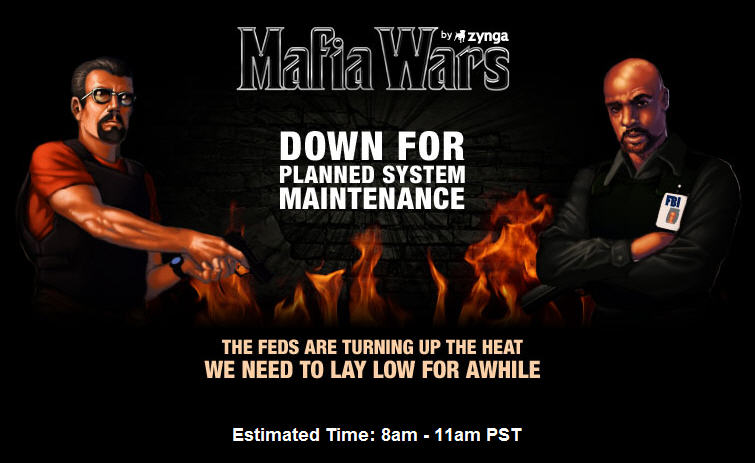 mafia wars schedule downtime