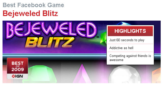 Bejeweled Blitz Highlights. Best Facebook Game of the Year