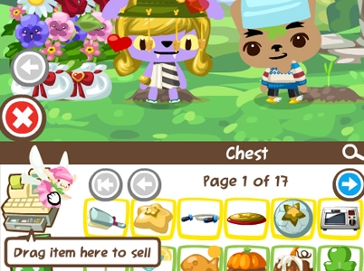 drag to sell fairy in pet society
