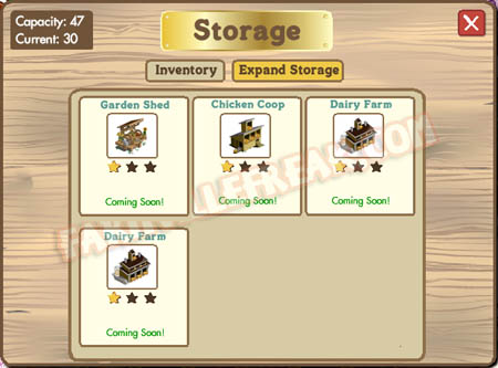 expand storage tab in barns and tool sheds menu
