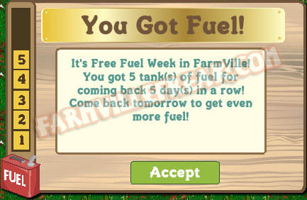 farmville free fuel week day 5 notice