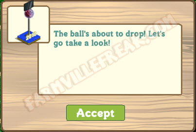 farmville ball about to drop notice