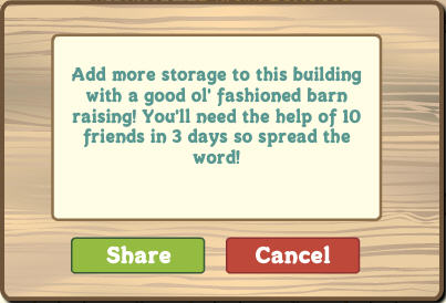 farmville goodl ol' fashioned barn raising