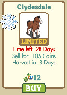 farmville clydesdale information