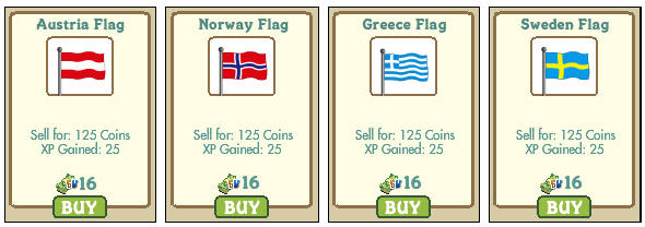 farmville new country flags austria greece sweden norway