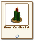 farmville green candles set giftables