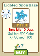 farmville lighted snowflake