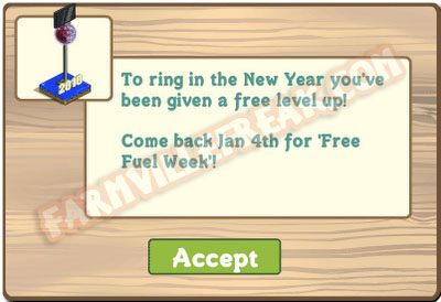farmville new years 2010 ball drop - level up