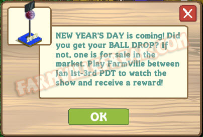 farmville new year's day notice