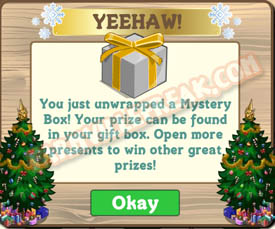 farmville silver mystery box unwrapped