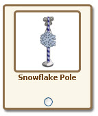 farmville snowflake pole giftable