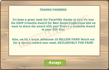 farmville thanks farmers notice