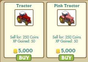 farmville tractors half-off sale