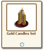 farmville gold candles set giftable