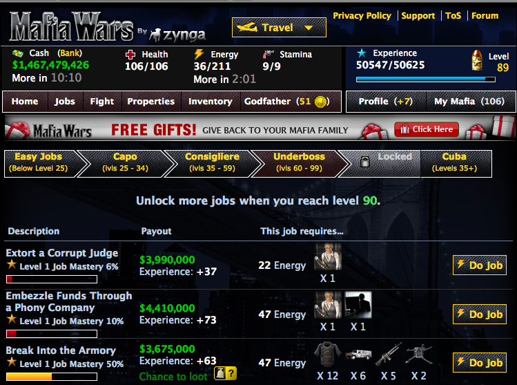 mafia wars cheats and tips: six easy ways to get ahead