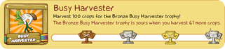 Tiki Farm Trophy 1 - Busy Harvester