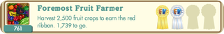FarmVille Ribbon 25 - Foremost Fruit Farmer