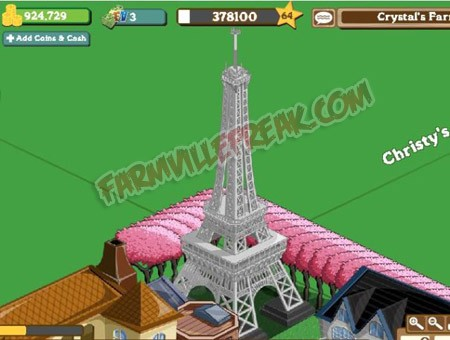 FarmVille Eiffel Tower Gift