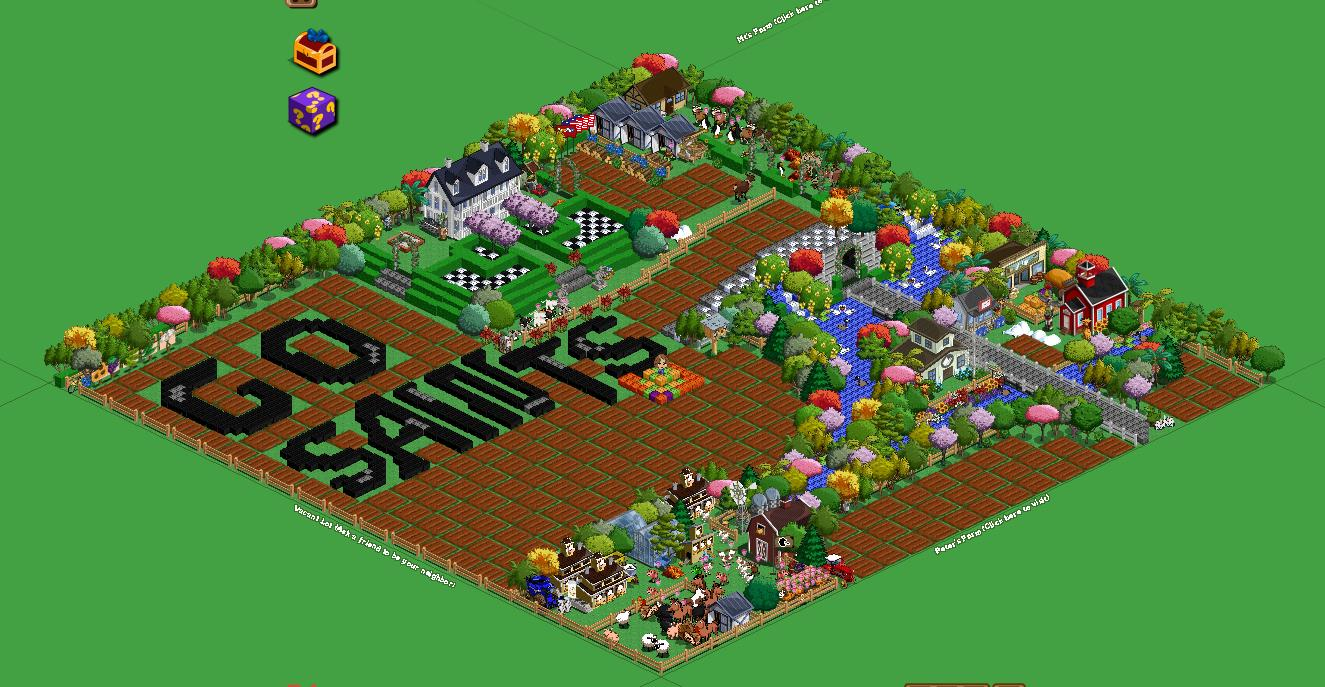 FarmVille Freak Tracy's Super Bowl Football Field