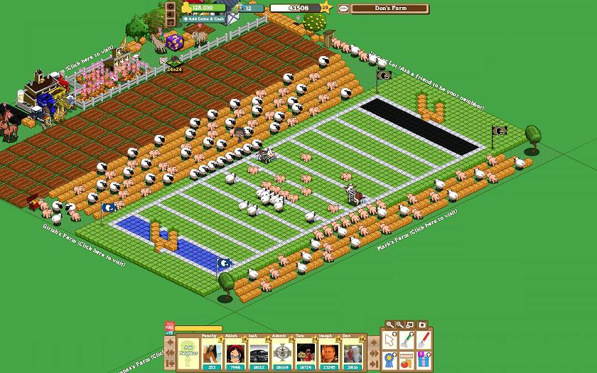 FarmVille Freak Josh's Farm Super Bowl Game