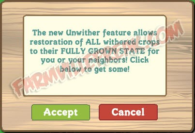 FarmVille Unwither Feature Announcement