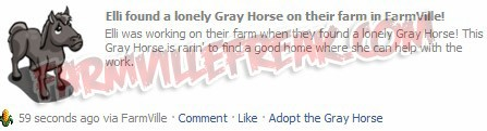 New Adoptable Gray Horse on FarmVille
