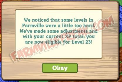 farmville makes leveling up easier?