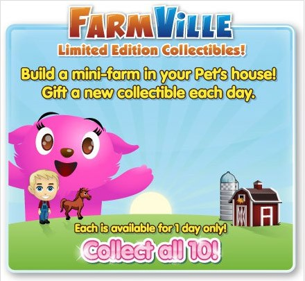 FarmVille collectibles in PetVille