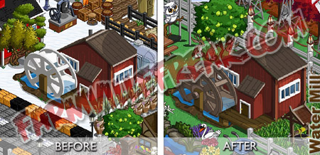 farmville waterfall and windmills upgraded