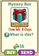 farmville teal and red mystery box
