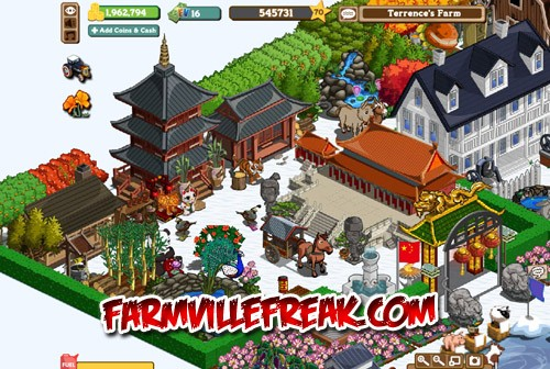 FarmVille Chinese Themed Farm
