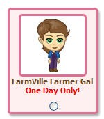 PetVille FarmVille collectible -- FarmVille Farmer Gal