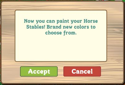 farmville horse stable paint