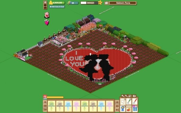 farmville valentine's day winner